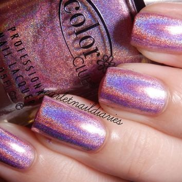 ★Color Club★ Halo-Graphic - Halo Hues Pink Holographic Holo Nail Polish 978