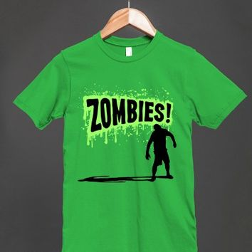 Zombies! Green Slime - Horror Shirt Unisex T Shirt - other styles and colors are available
