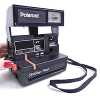 Vintage Polaroid Camera  Black Polaroid OneStep by MaejeanVINTAGE