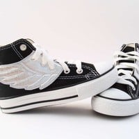 Superhero Shoes Silver Wings by smallfly on Etsy