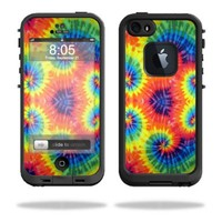MightySkins Protective Vinyl Skin Decal Cover for LifeProof iPhone 5 / 5S Case fre Case Sticker Skins Tie Dye 2