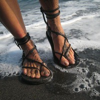 Maori Sandals by TreadLightGear on Etsy