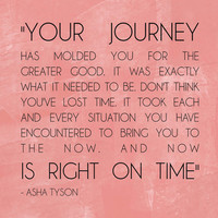 Your Journey right on time  PRINT + Great grad gift