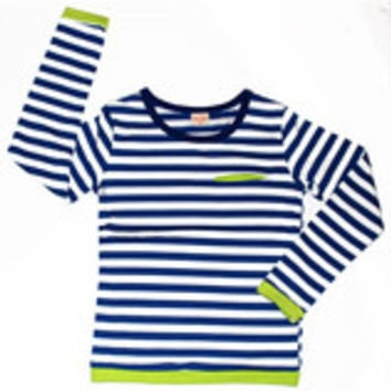 Striped Blue and White Tee