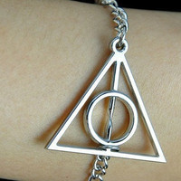 Harry potter Deathly Hallows Bracelet by sweethearteverybody
