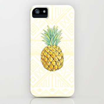 Pineapple on Aztec iPhone   iPod Case by Kate