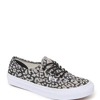 Vans Authentic Slim Leopard Sneakers - Womens Shoes - Black -