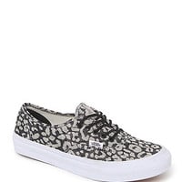 Vans Authentic Slim Leopard Sneakers - Womens Shoes - Black