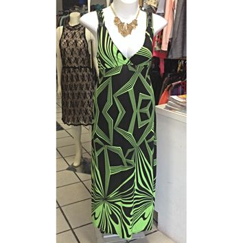 #PLUS #Printed #Maxi #Dress