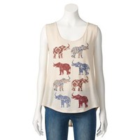 About A Girl High-Low Elephant Tank - Juniors