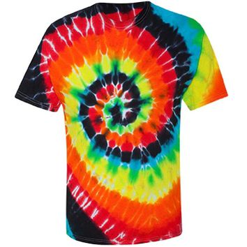 Unisex Tie Die: Custom Unisex Gildan Tie-Dye Multi-Color Spiral T-Shirt - Customized Girl