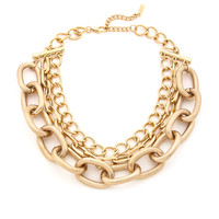 West Side Statement Chain Necklace - Gold