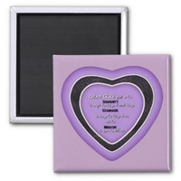 Serenity Prayer Purple Heart Magnet