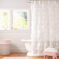 Ruffle Shower Curtain | Pottery Barn Kids