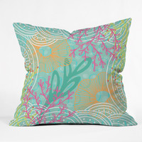 Kerrie Satava Ocean Bloom Throw Pillow