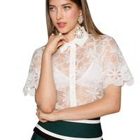 Iggy White Lace Shirt