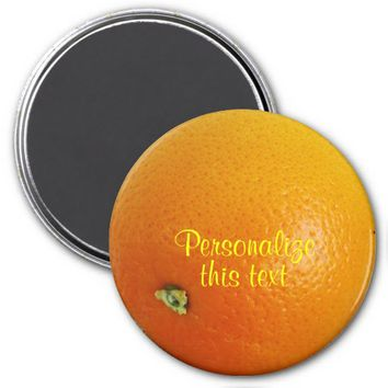 Orange Fruit Refrigerator Magnet