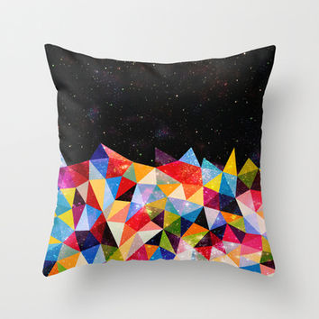 Space Shapes Throw Pillow by Fimbis