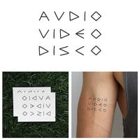 AV Club - Temporary Tattoo (Set of 2)