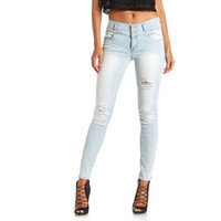 "REFUGE ""MID-RISE SKINNY"" LIGHT WASH JEANS"