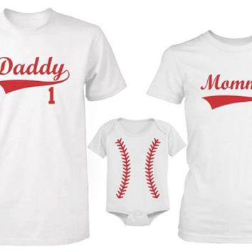 365 In Love Daddy or Mommy or Baby Family Matching Baseball