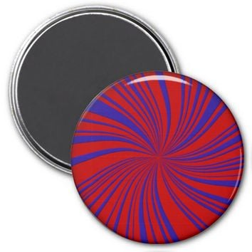 School Colors Twirl Magnet, Red-Blue