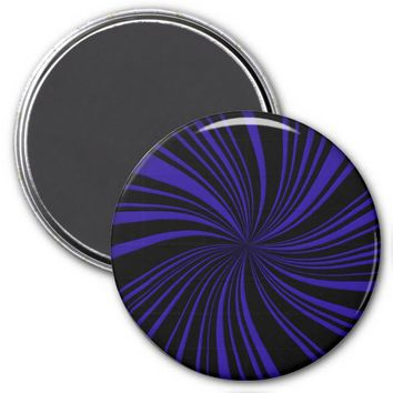 School Colors Twirl Magnet, Blue-Black
