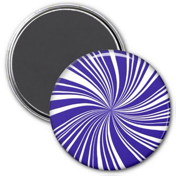 School Colors Twirl Magnet, Blue-White