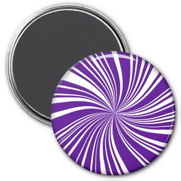 School Colors Twirl Magnet, Purple-White