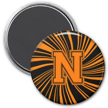 Collegiate Letter Magnet Orange-Black-N