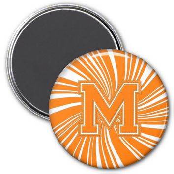 Collegiate Letter Magnet Orange-White-M