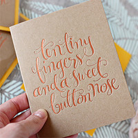 Letterpress Greeting Card | Letterpress Thank You Card