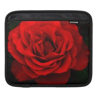 Fire Red Rose iPad Sleeve Horizontal