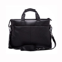 Stylish Men Cow Leather Business Shoulder Briefcase Bag