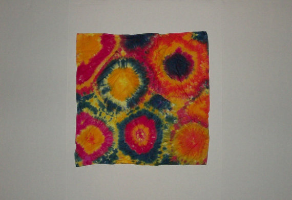 Celestial Suns  Tie Dye Bandana by OriginalAccents on Etsy