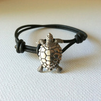 Sea Turtle Bracelet Charm Bracelet Wish by Jennasjewelrydesign