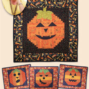 Pumpkin Grins Quilt Pattern, Eleanor Burns Signature, Quilt in a Day