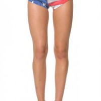 Mini High Waisted USA Shorts