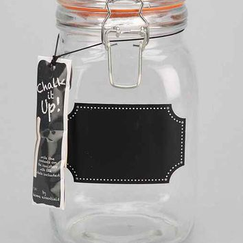 Tall Chalkboard Label Canister- Clear One Size- Clear One