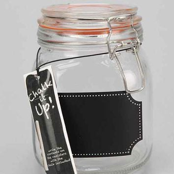 Chalkboard Label Canister- Clear One Size- Clear One