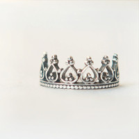 Princess Ring, Crown Ring - sterling silver