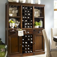 Modular Bar System with 1 Wine Hutch & 2 Open Hutch