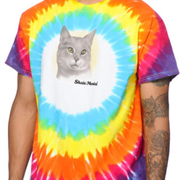 Skate Mental A Cat Tie Dye Tee Shirt