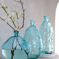 Turquoise Glass Vases - Neiman Marcus