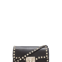Rockstud Crossbody Bag in Black