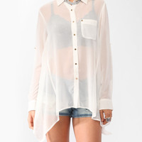Sheer Collared Shirt | FOREVER21 - 2000034558