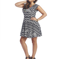 Aztec Skater Dress | Wet Seal