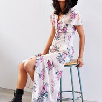 Band Of Gypsies Keyhole-Sleeve Maxi Dress - Urban Outfitters