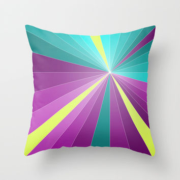Rays abstract Throw Pillow by eDrawings38 | Society6