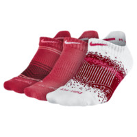 Nike Graphic Tab No-Show Socks (3 Pair) Size M (Red)